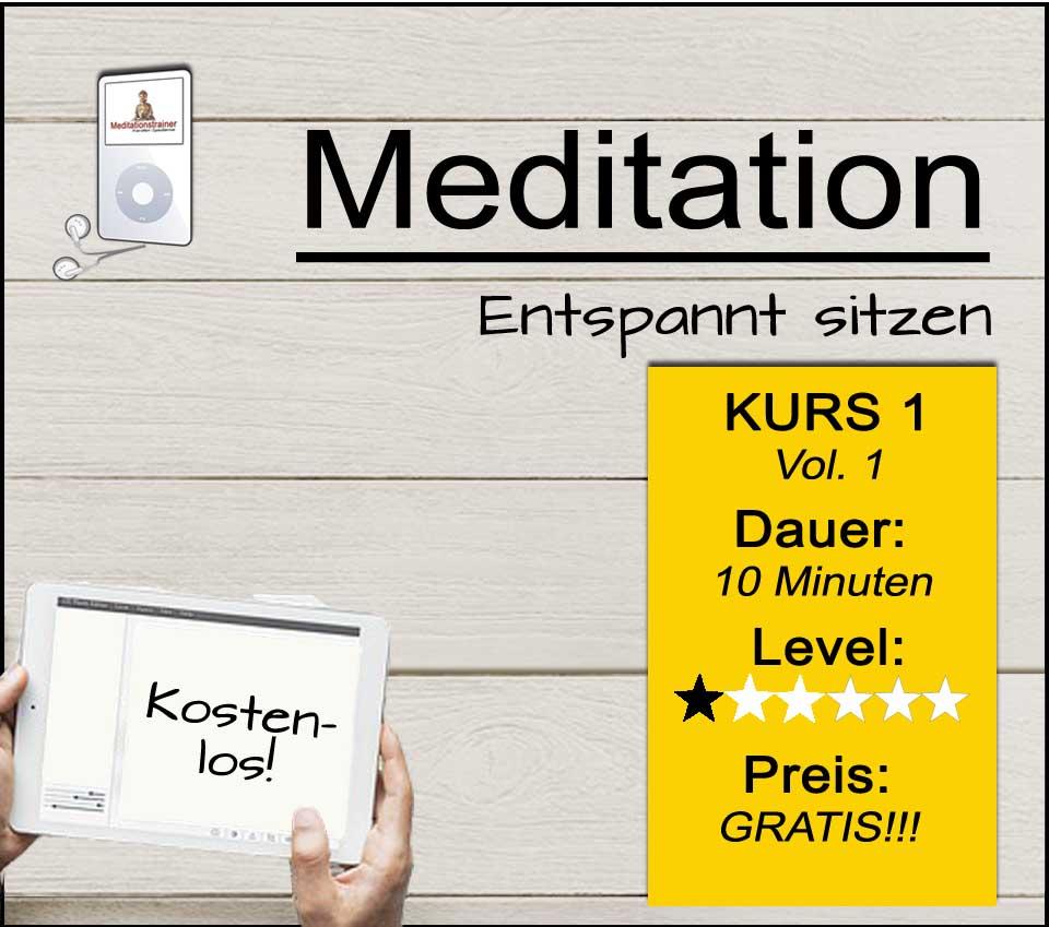 """Angeleitete Meditation """"Ruhig sitzen lernen"""""""